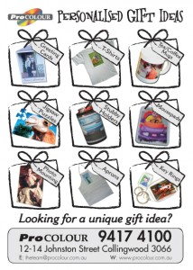 Personalised gift brochure