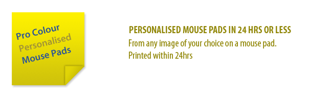 Mouse pad banner