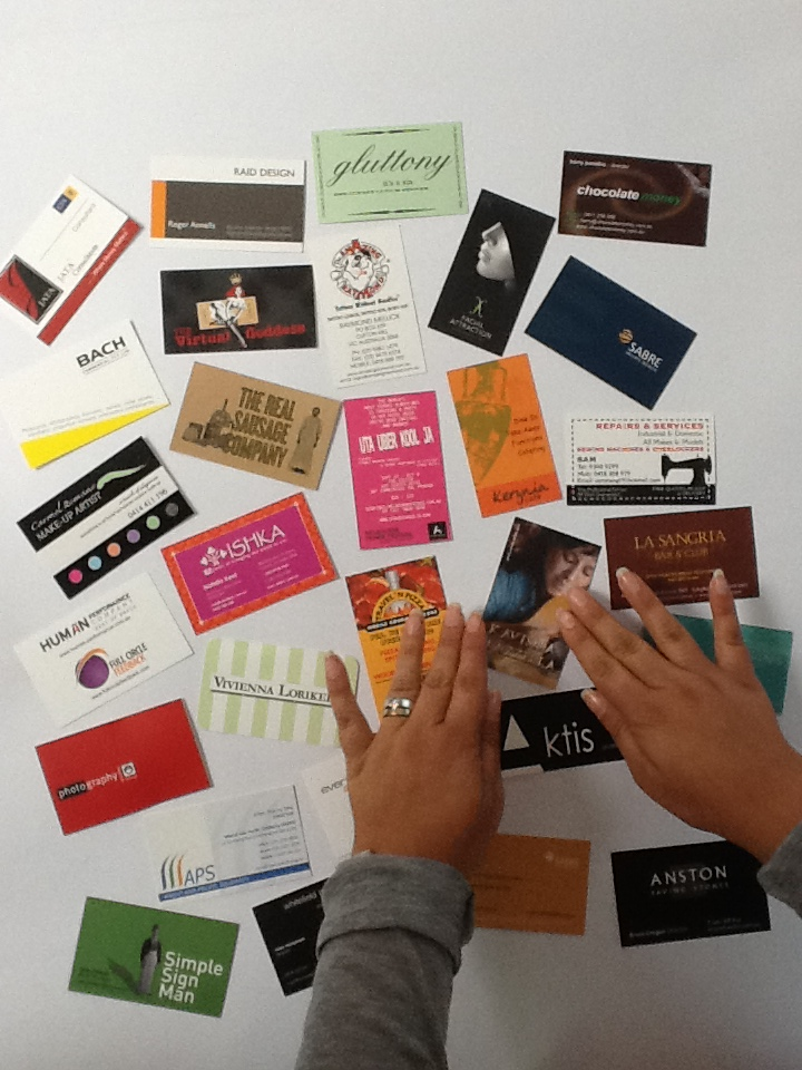 Hands on business cards