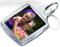 Two girls personalised key ring